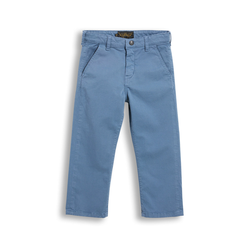 PORTMAN Stone Blue - Chino Fit Pants 1