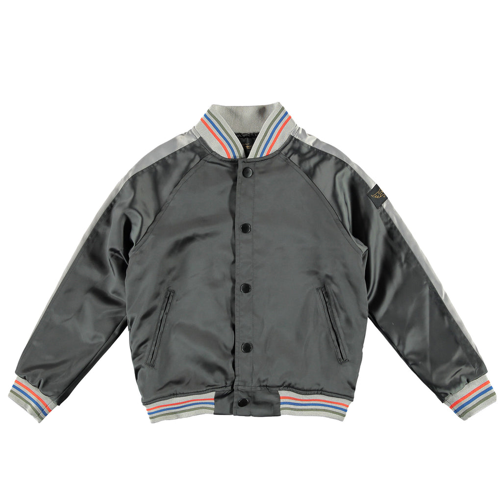 PRETENDER Vulcano Cactus - Girl Embroidered Varsity Jacket