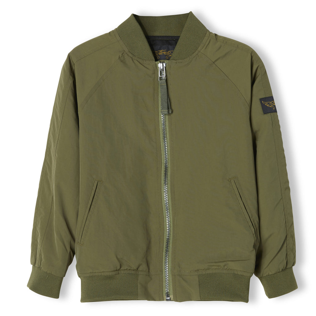Pretender Khaki Unisex Varsity Jacket Finger In The Nose