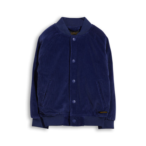 PRETENDER Royal Blue Cord - Varsity Jacket