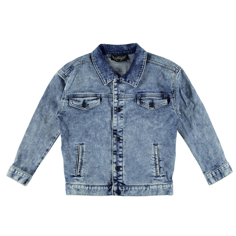 ROAD Blue Denim Snow - Unisex Denim Oversized Jacket