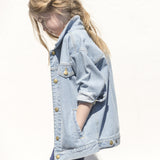 ROAD Bleached Blue - Girl Woven Denim Oversized Jacket 3 js-nozoom