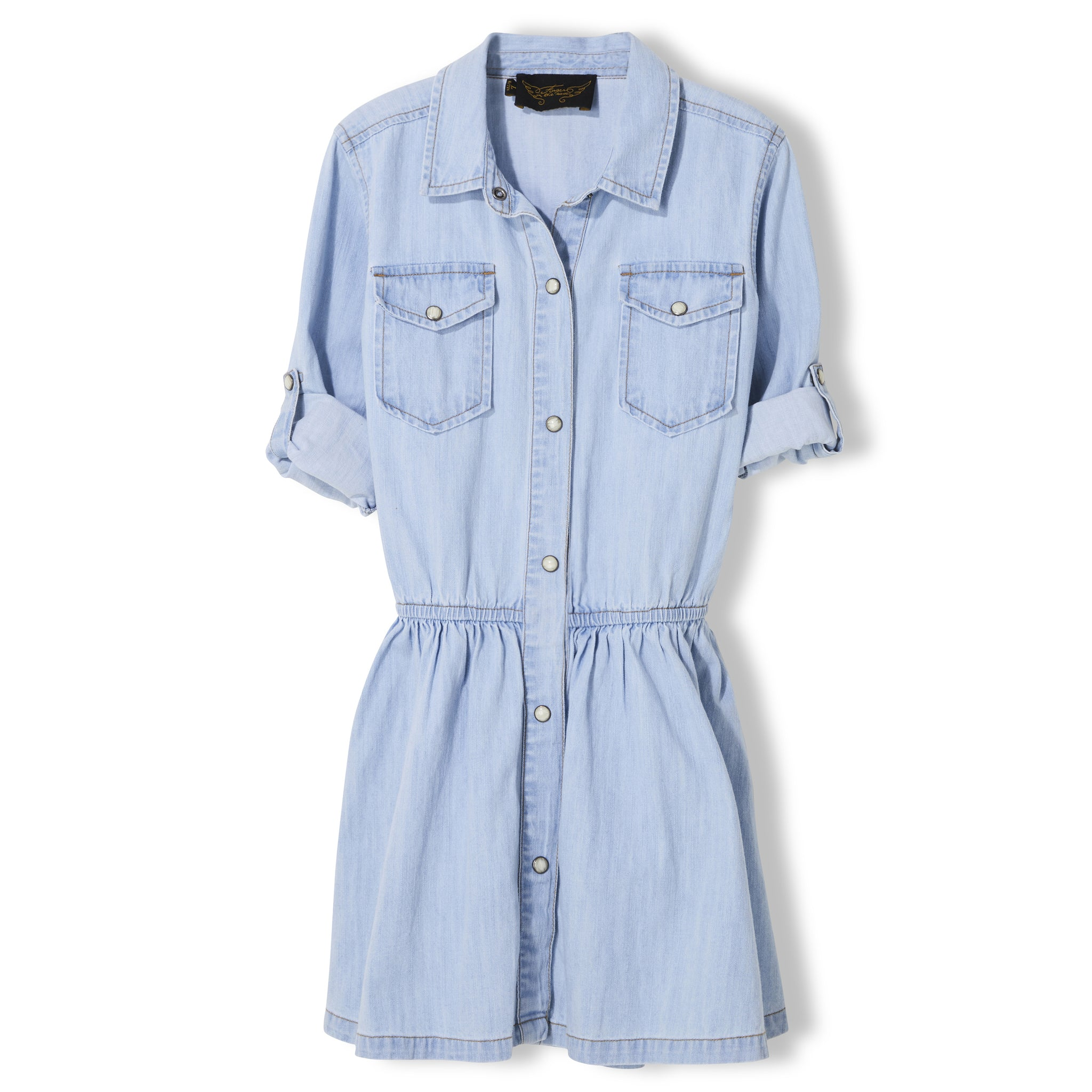 ROSEVILLE Bleached Blue - Girl Woven Long Sleeve Dress 2