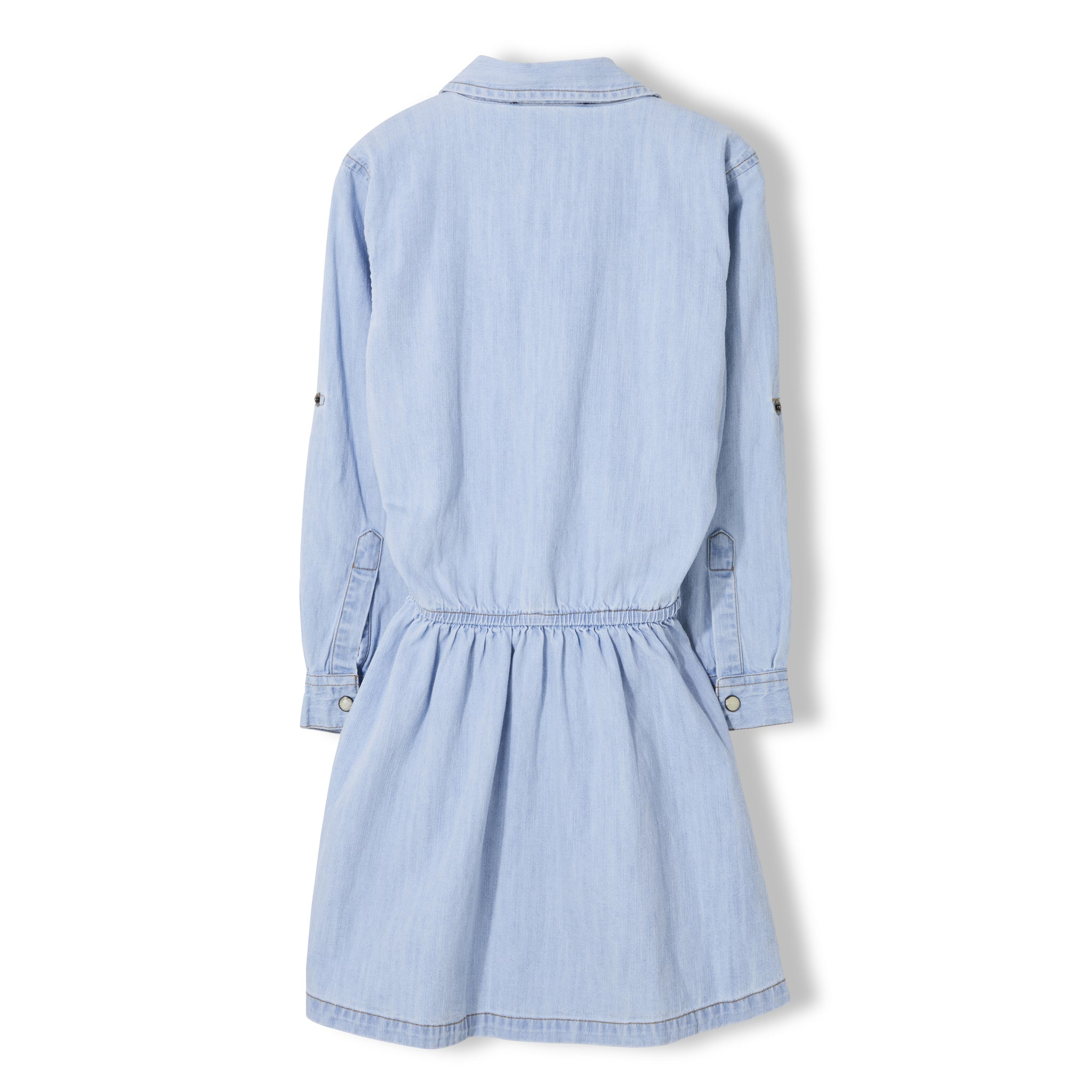ROSEVILLE Bleached Blue - Girl Woven Long Sleeve Dress 3