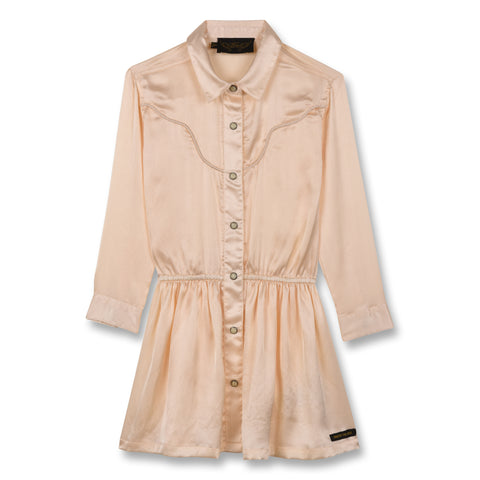 ROSEVILLE Champagne - Long Sleeves Shirt Dress 1