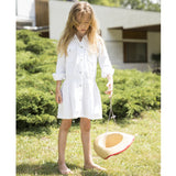 ROSEVILLE White Checkers - Girl Woven Long Sleeve Dress 2 js-nozoom