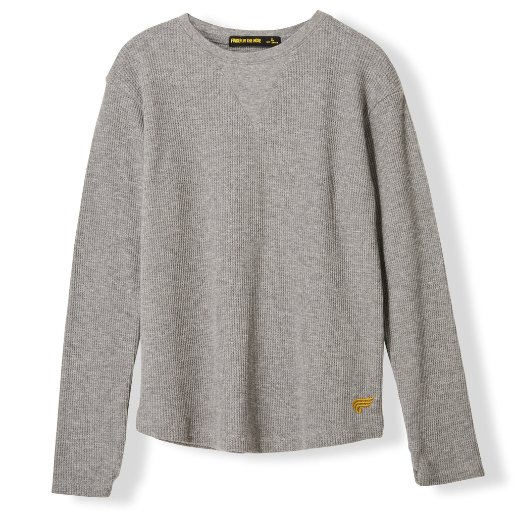 ROSS Heather Grey Honeycomb -  Knitted Honeycomb T-shirt 1