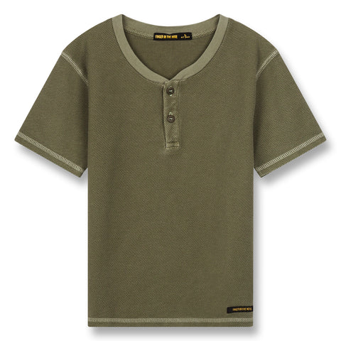 ROSWELL Khaki - Tunisian Short Sleeve T-Shirt 1