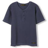 ROSWELL Super Navy - Boy Knitted Tunisian Short Sleeve T-Shirt