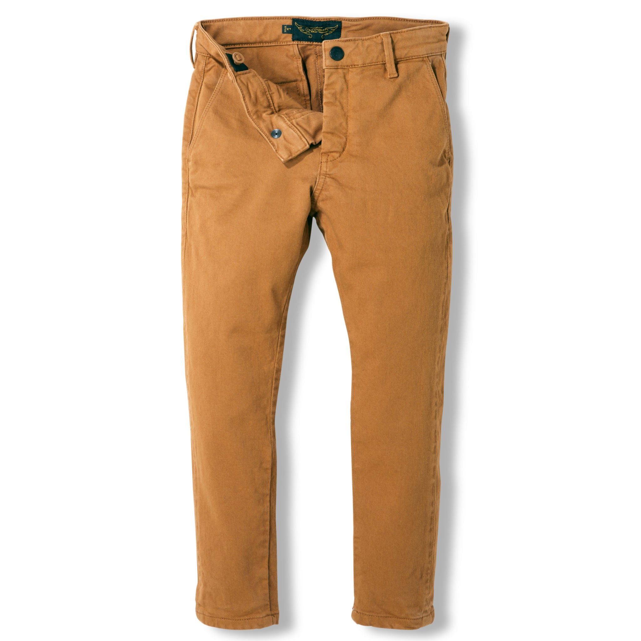 SCOTTY Caramel -  Woven Chino Fit Pants 3