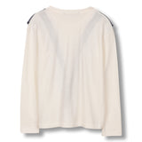SHINE Ecru Flounces - Long Sleeves T-shirt 2