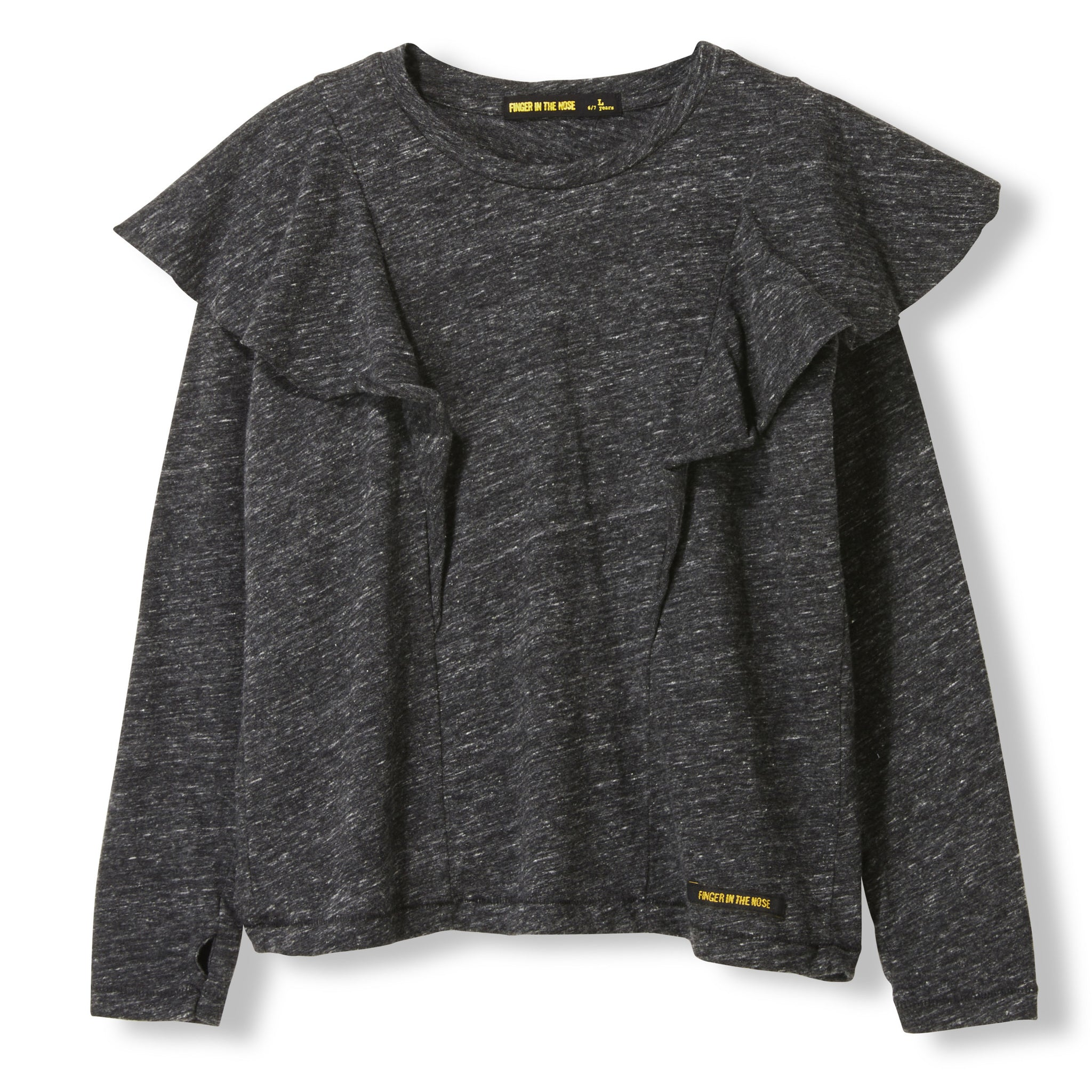 SHINE Heather Anthracite -  Knitted Long Sleeve Jersey T-shirt 1