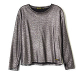 SHINE Silver - Loose Fit Long Sleeves t-shirt