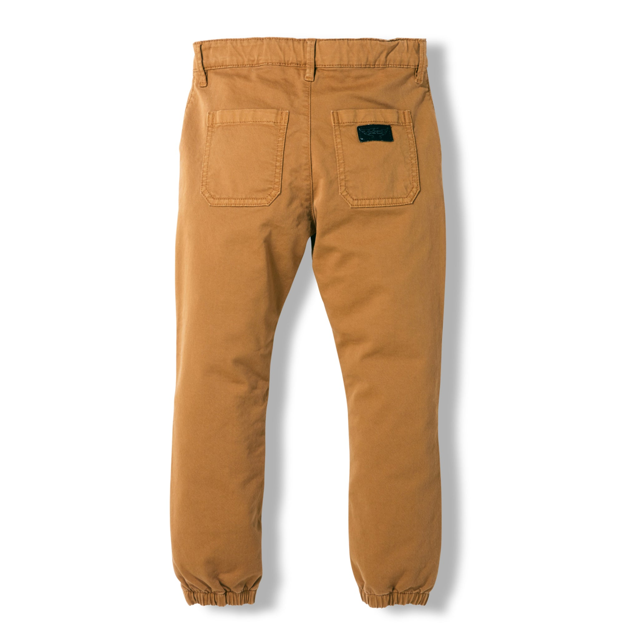 SKATER Caramel -  Woven Elasticed Bottom Chino Fit Pants 4