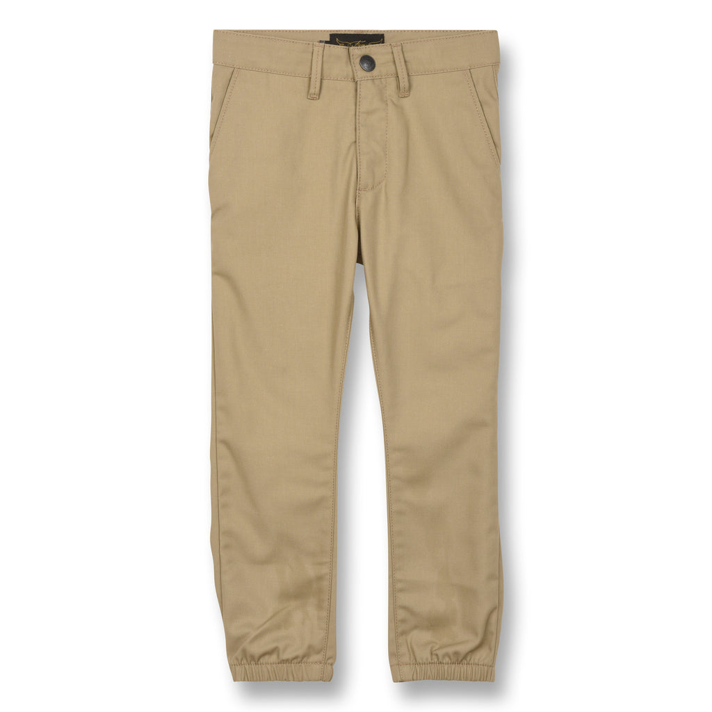 SKATER Linen - Elasticed Bottom Chino Fit Pants 1