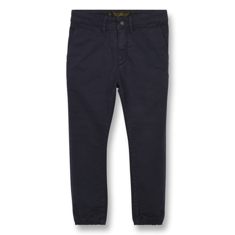 SKATER Sailor Blue - Elasticed Bottom Chino Fit Pants 1