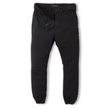 SKATER Summer Black -  Woven Elasticed Bottom Chino Fit Pants 2