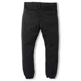 SKATER Summer Black -  Woven Elasticed Bottom Chino Fit Pants 3