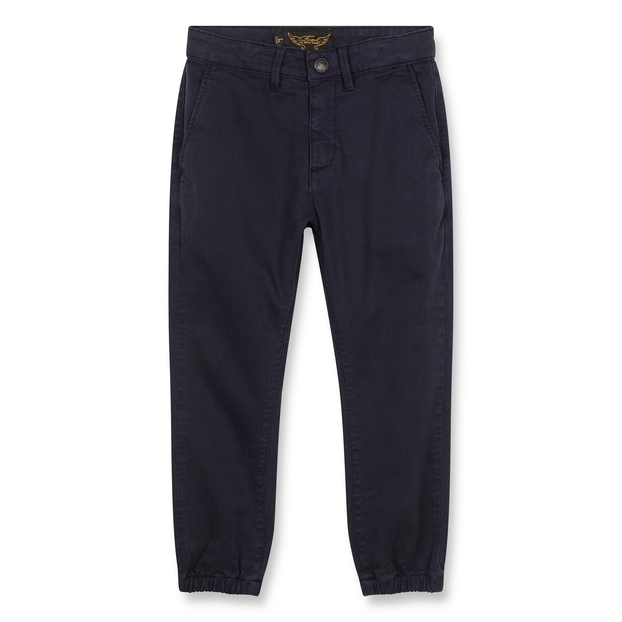 SKATER Super Navy - Elasticed Bottom Chino Fit Pants 1