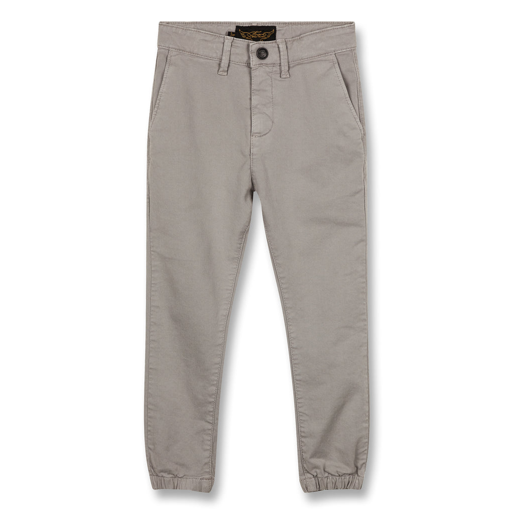 SKATER Warm Grey - Elasticed Bottom Chino Fit Pants 1