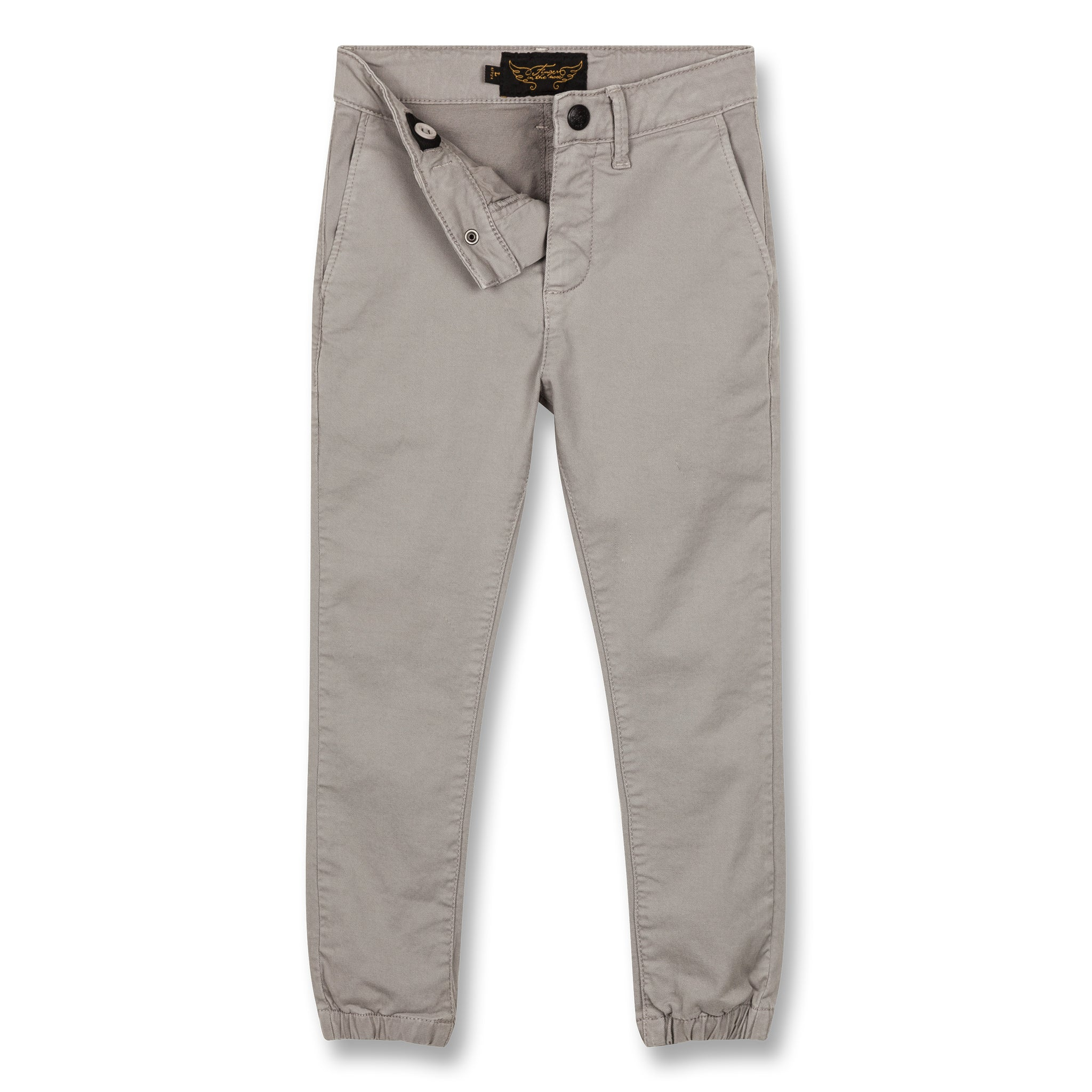 SKATER Warm Grey - Elasticed Bottom Chino Fit Pants 2