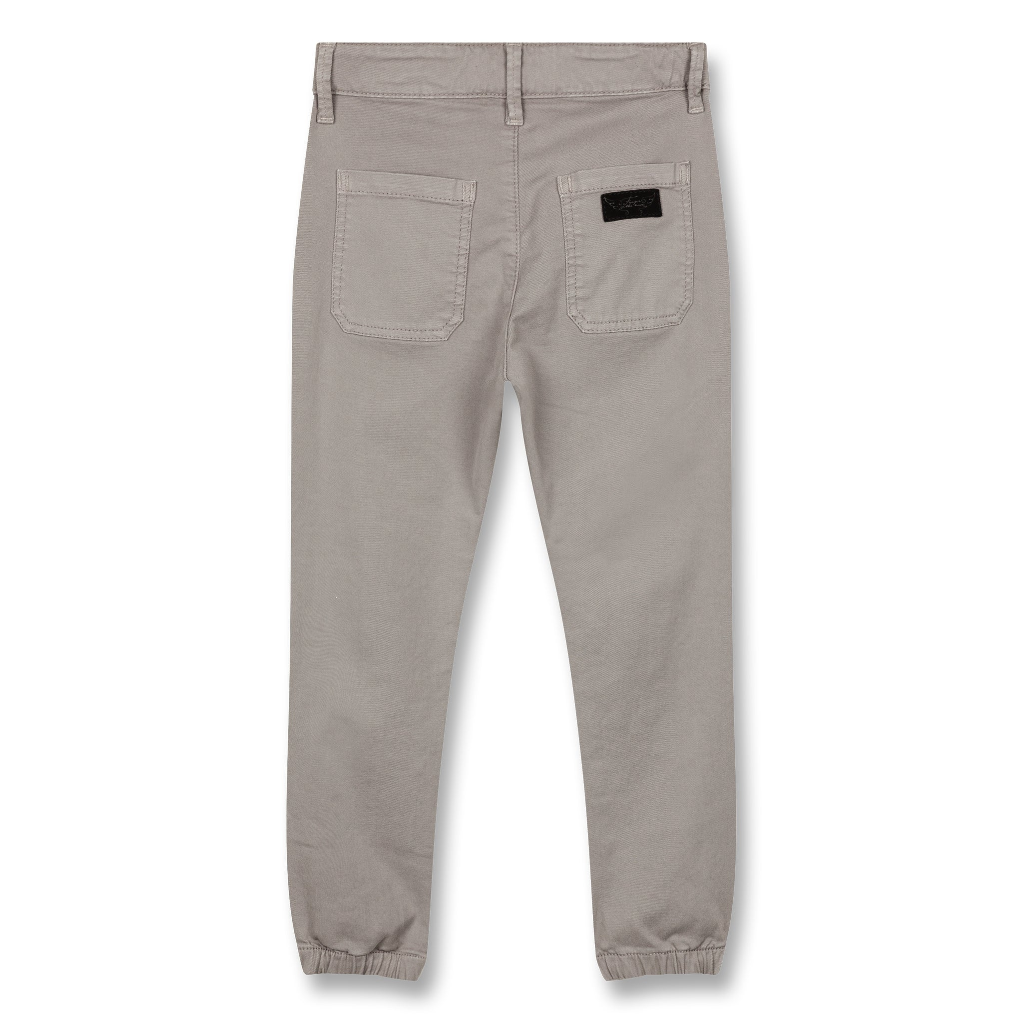 SKATER Warm Grey - Elasticed Bottom Chino Fit Pants 3