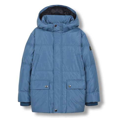 SNOWCAMP Stone Blue - Zipped Down Parka 1