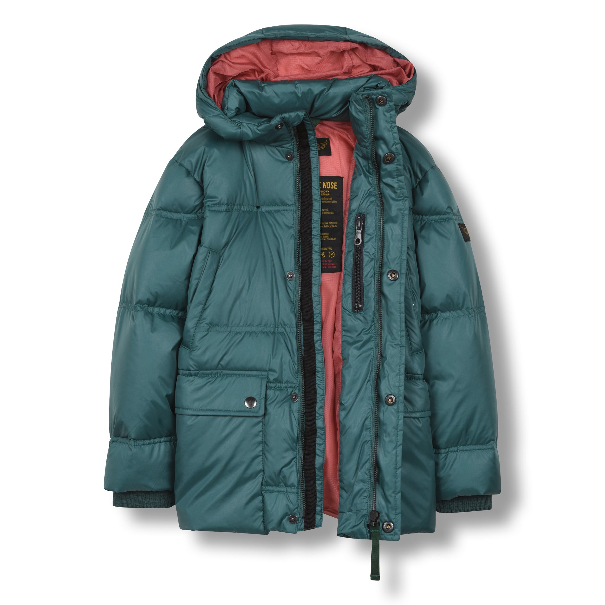 SNOWCAMP University Green - Zipped Down Parka 2