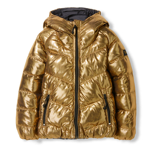 SNOWDANCE Ash Black Gold -  Woven Reversible Down Jacket