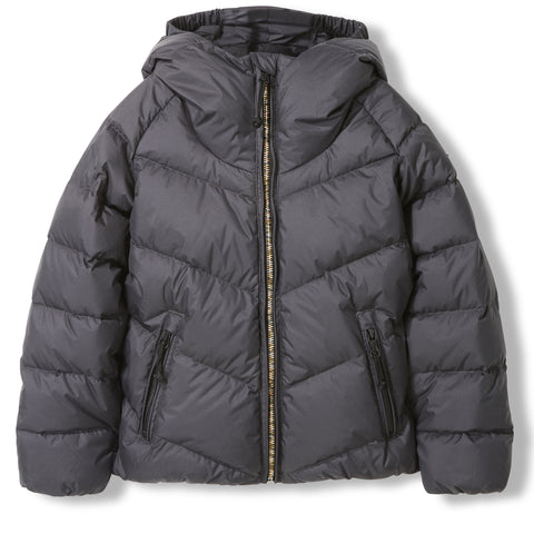 SNOWDANCE Ash Black -  Woven Down Jacket 1