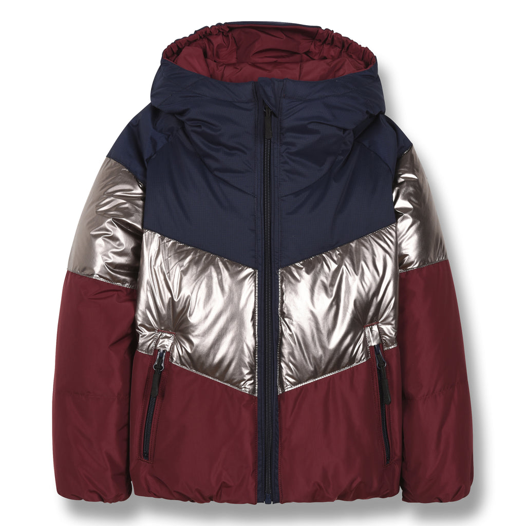 SNOWDANCE Multicolor Colorblock - Reversible Down Jacket 1