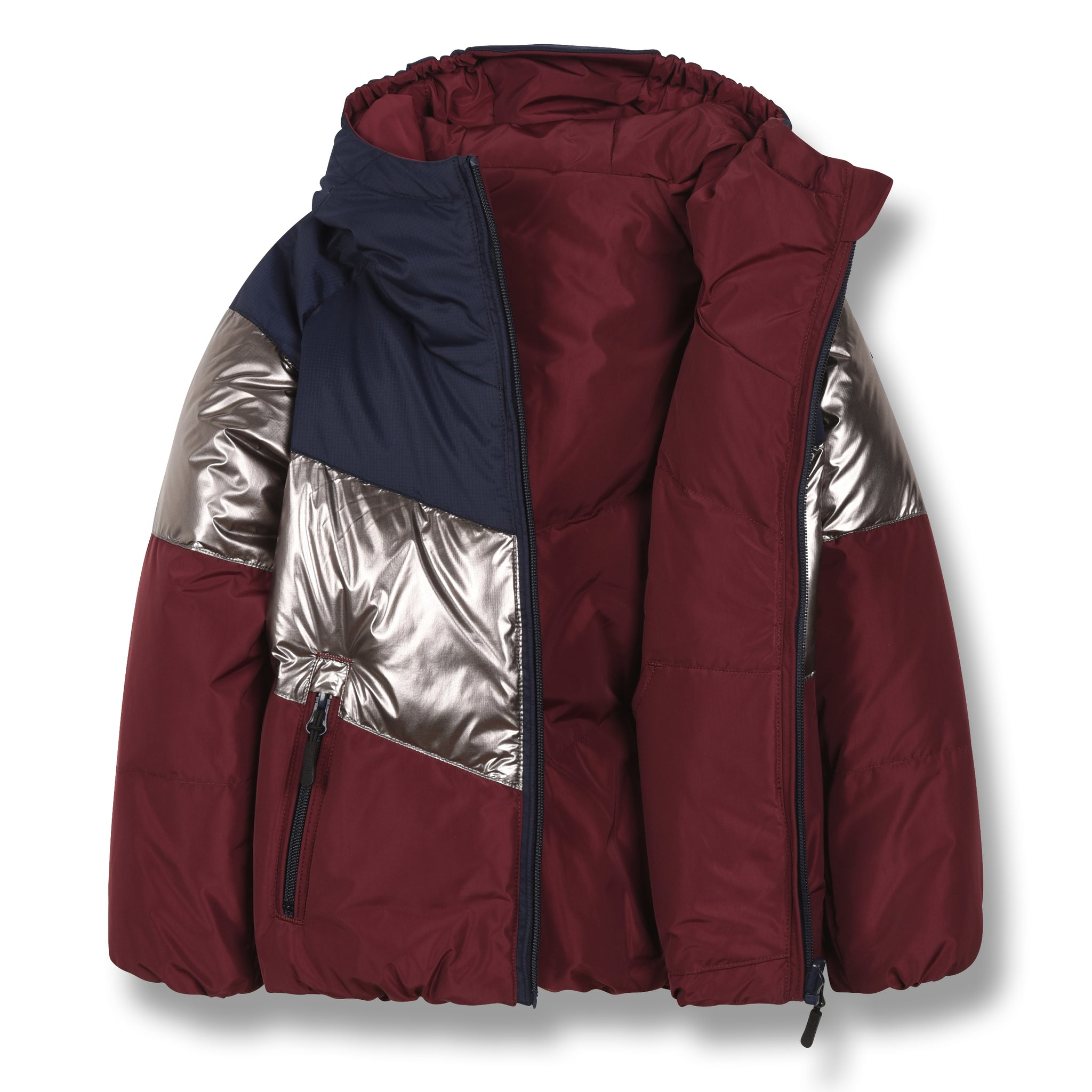 SNOWDANCE Multicolor Colorblock - Reversible Down Jacket 2