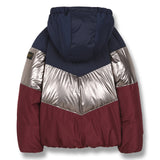 SNOWDANCE Multicolor Colorblock - Reversible Down Jacket 3
