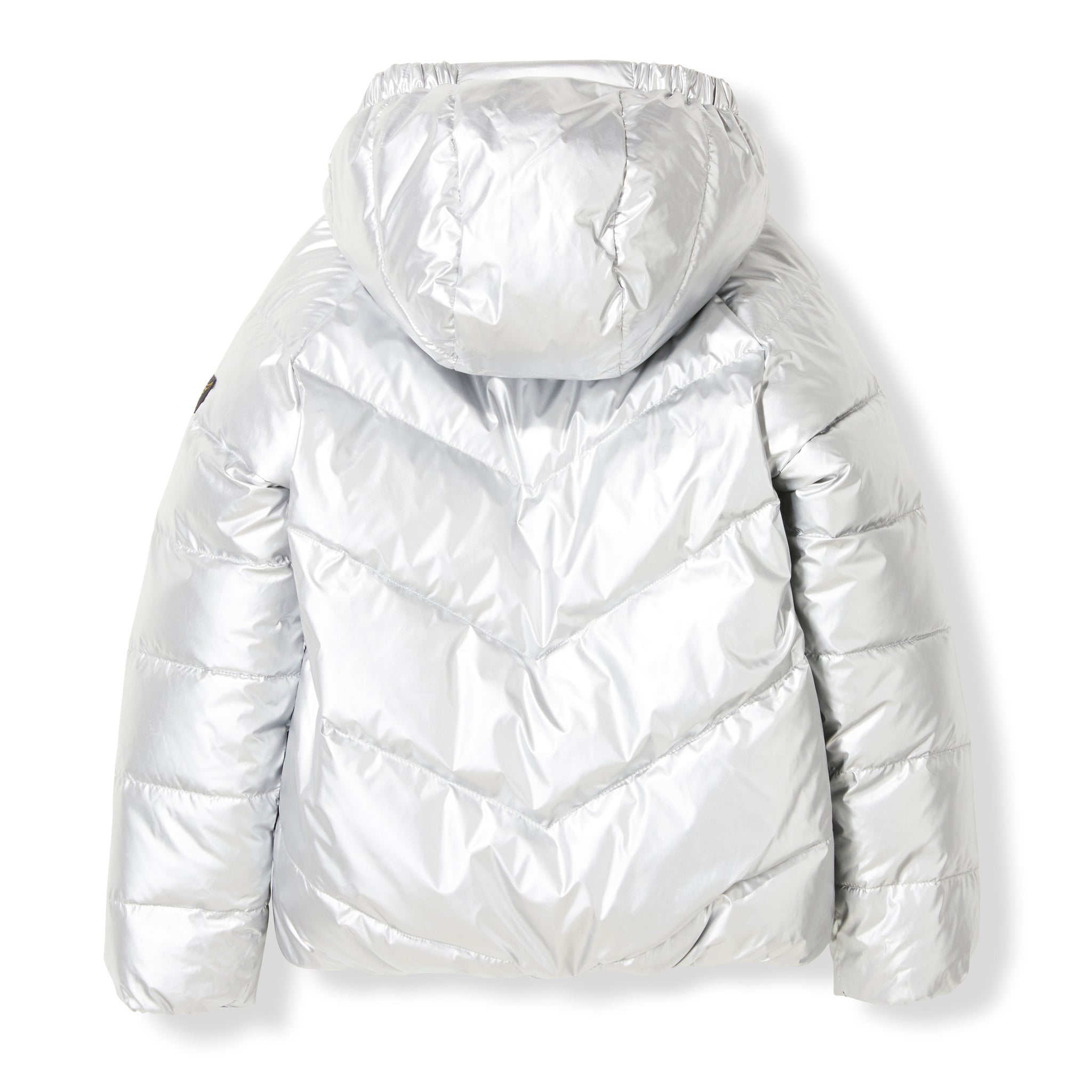 SNOWDANCE Silver Colorblock -  Woven Reversible Down Jacket 3