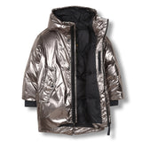 SNOWDOLL Silver -Oversized Down Coat 2