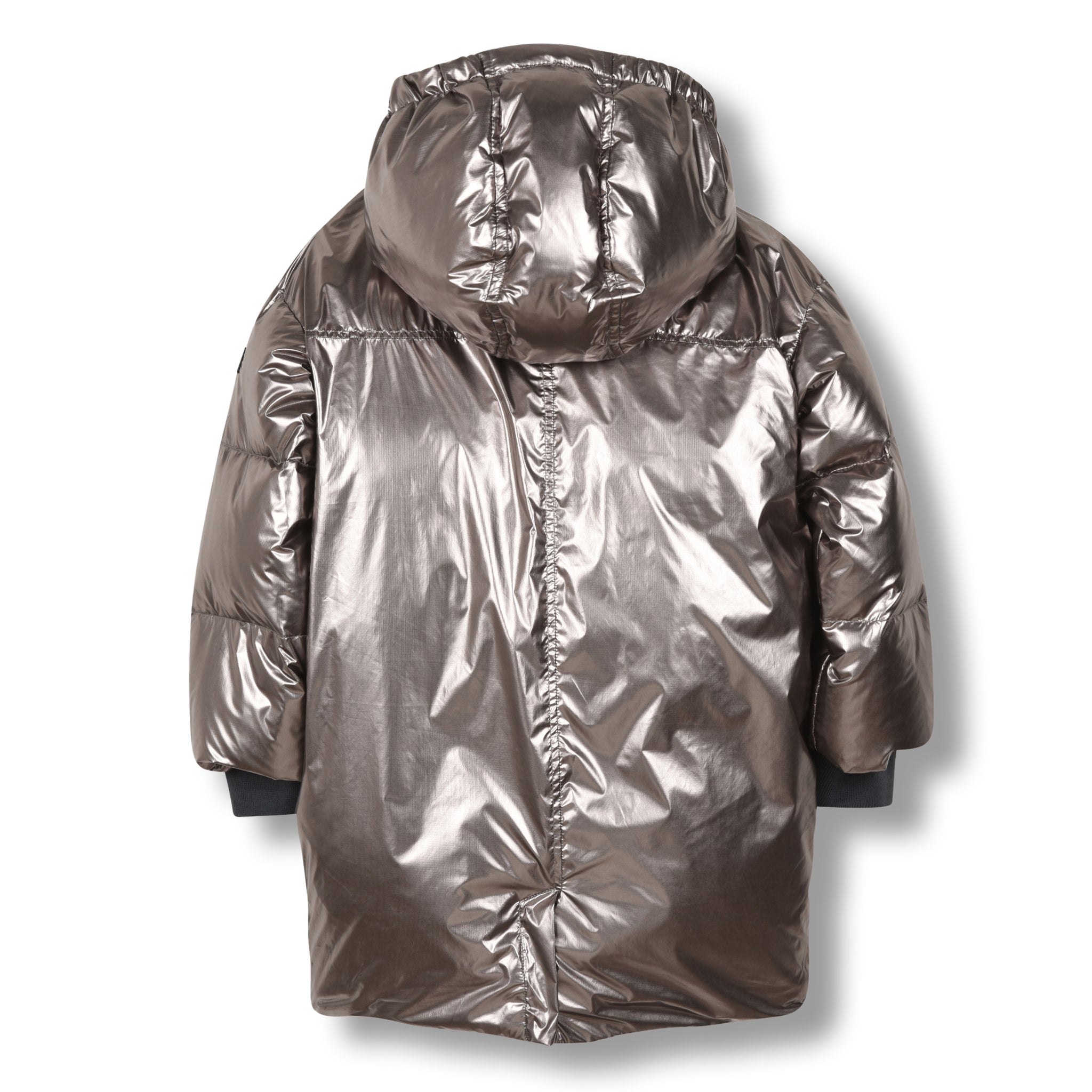 SNOWDOLL Silver -Oversized Down Coat 3