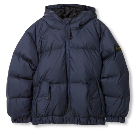 SNOWDUST Navy -  Woven Down Jacket 1