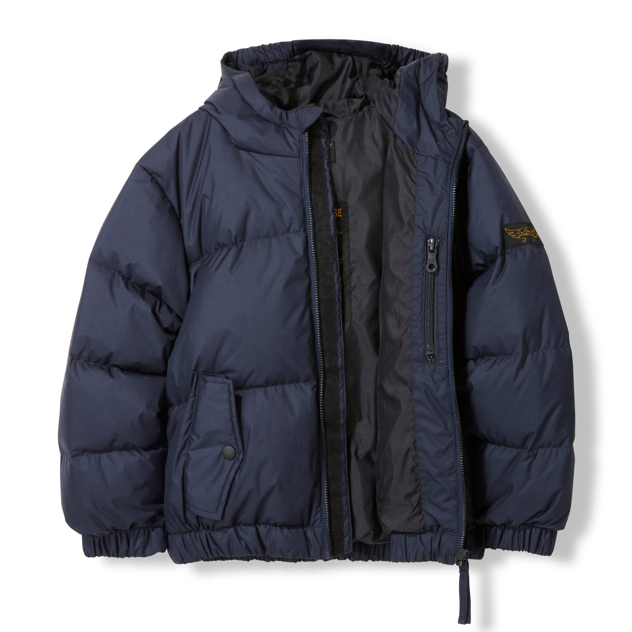 SNOWDUST Navy -  Woven Down Jacket 2