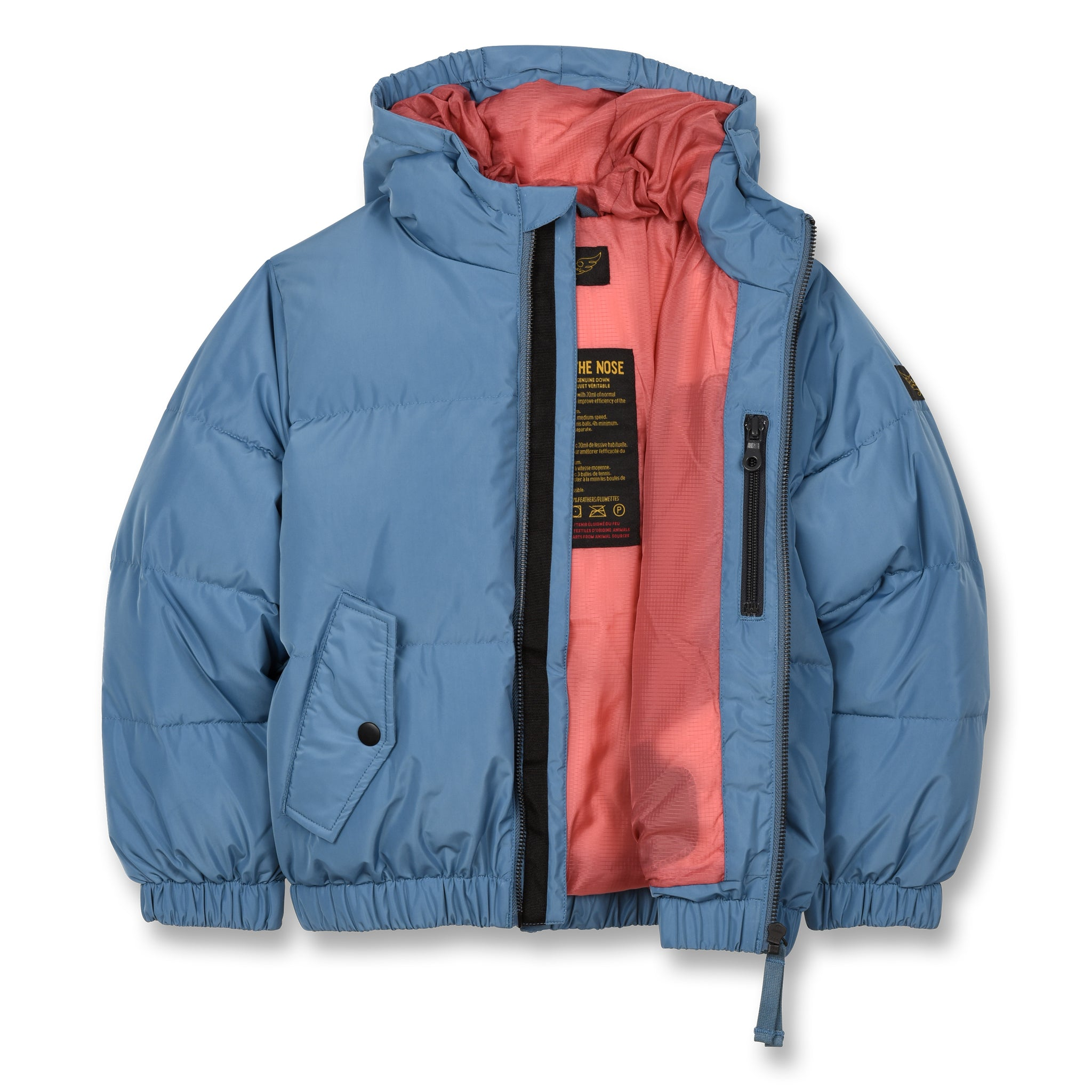 SNOWDUST Stone Blue - Down Bomber Jacket 2