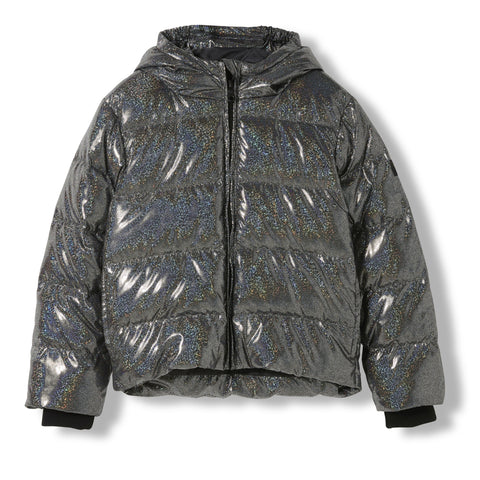 SNOWFIELD Black Hologram -  Woven Down Jacket 1