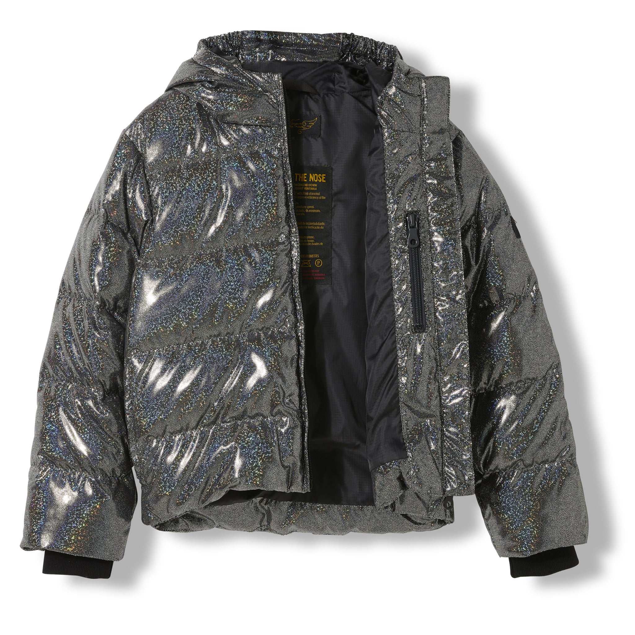 SNOWFIELD Black Hologram -  Woven Down Jacket 2