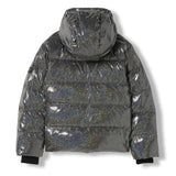 SNOWFIELD Black Hologram -  Woven Down Jacket 3