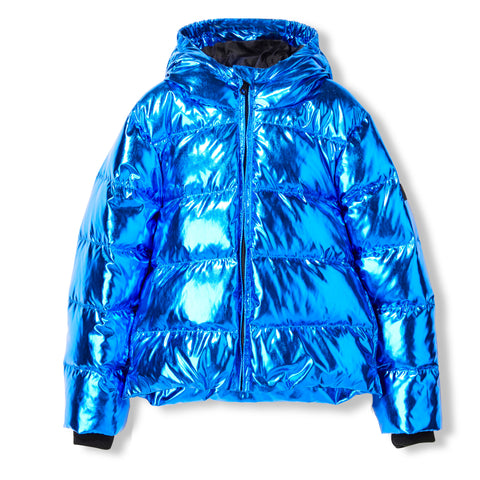 SNOWFIELD Pop Blue Metal -  Woven Down Jacket 1
