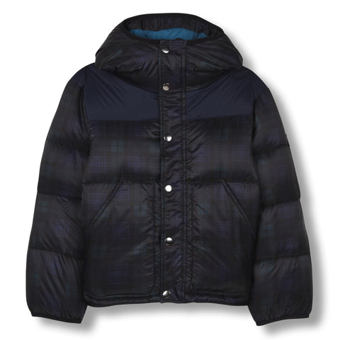 SNOWFLOW Navy Checker - Straight Down Jacket 1