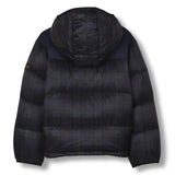 SNOWFLOW Navy Checker - Straight Down Jacket 3