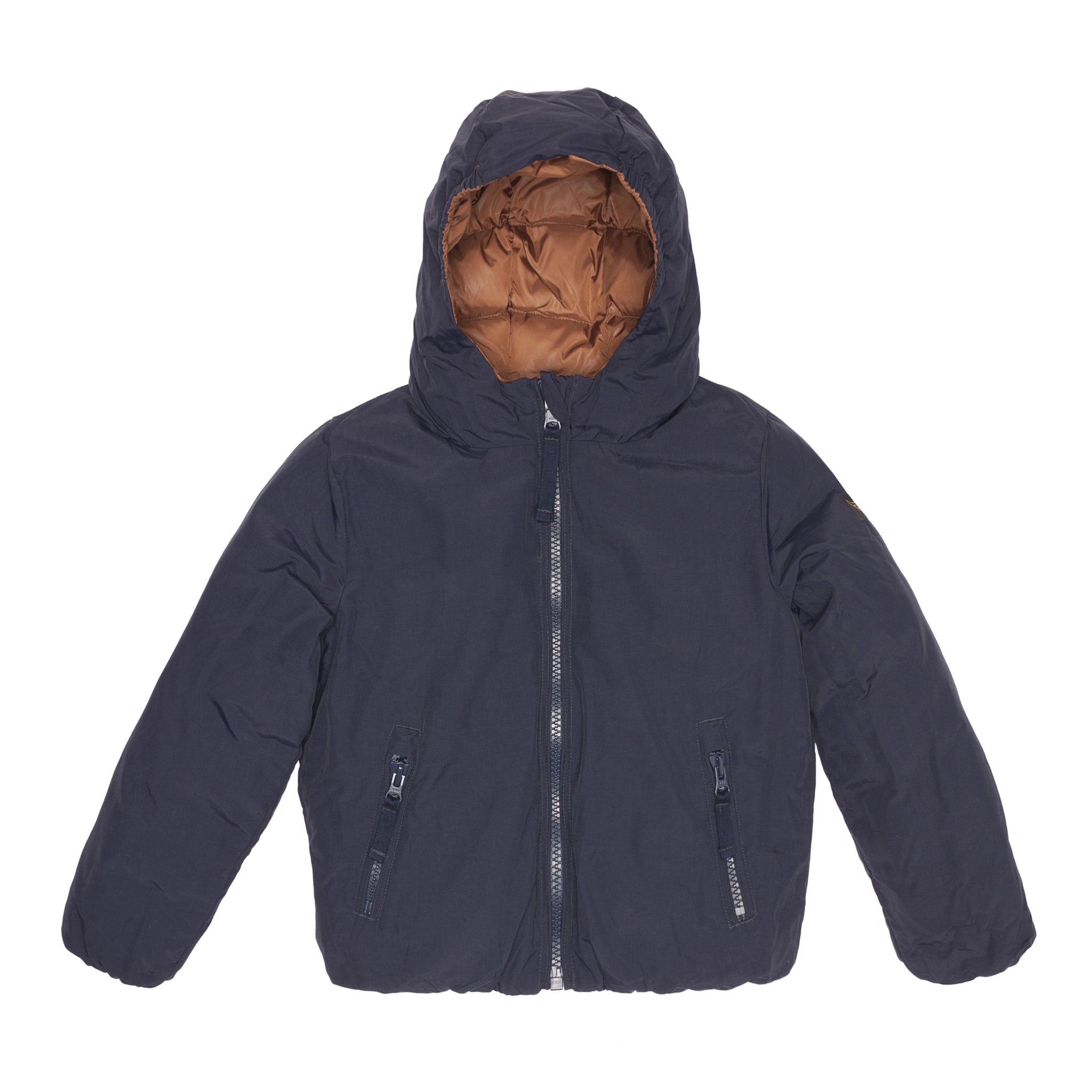 SNOWJUMP Navy Copper Brown - Reversible Down Jacket