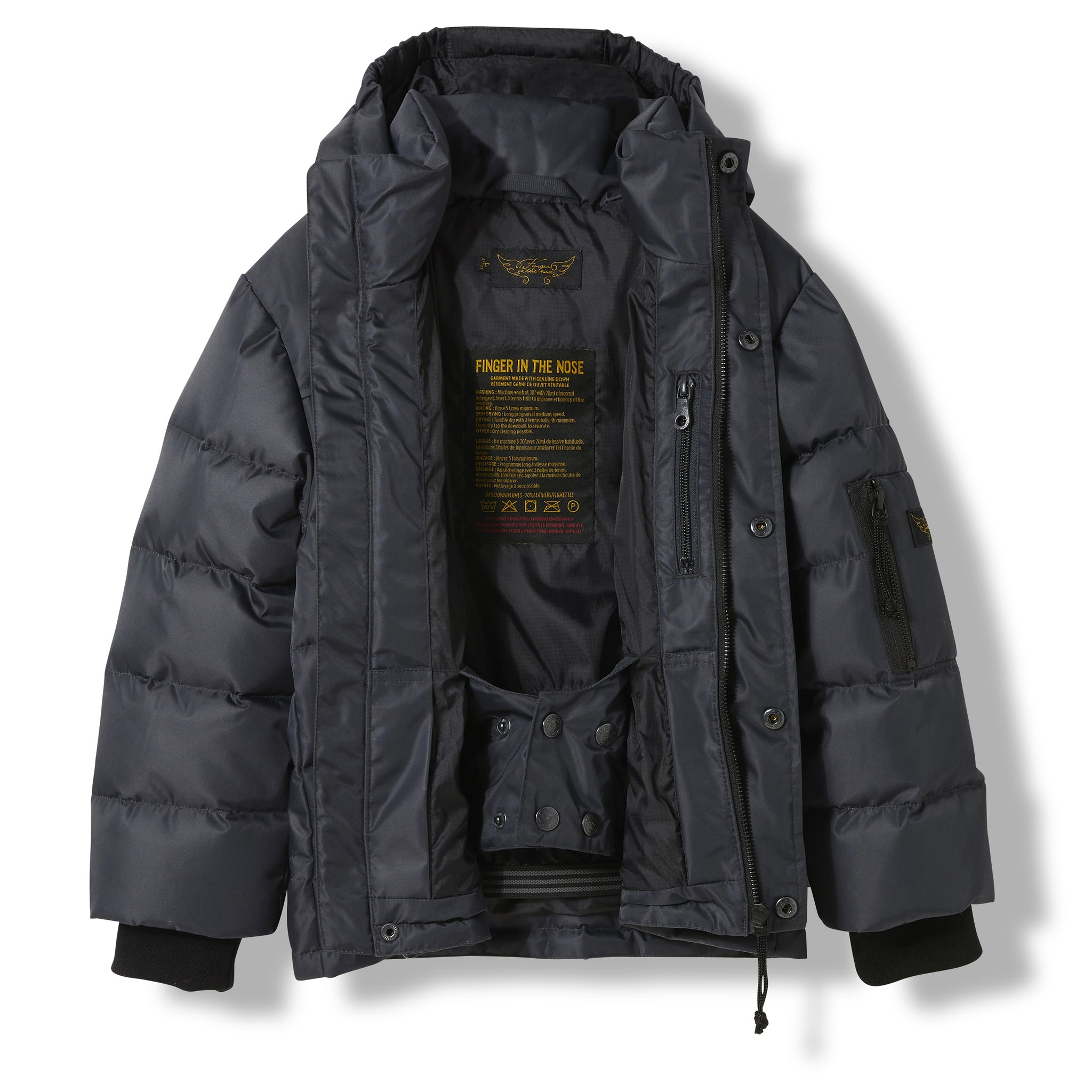 SNOWLYNX Ash Black -  Woven Down Jacket 3