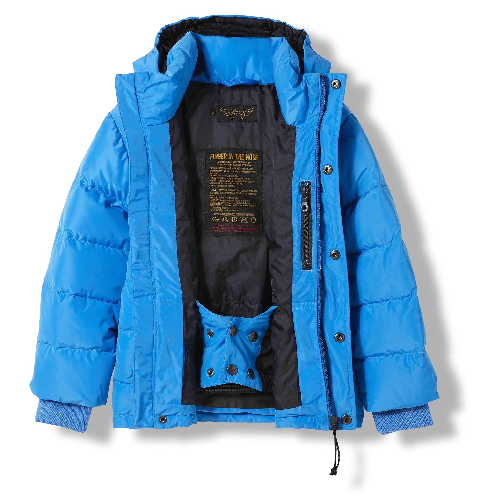 SNOWLYNX Pop Blue -  Woven Down Jacket 3