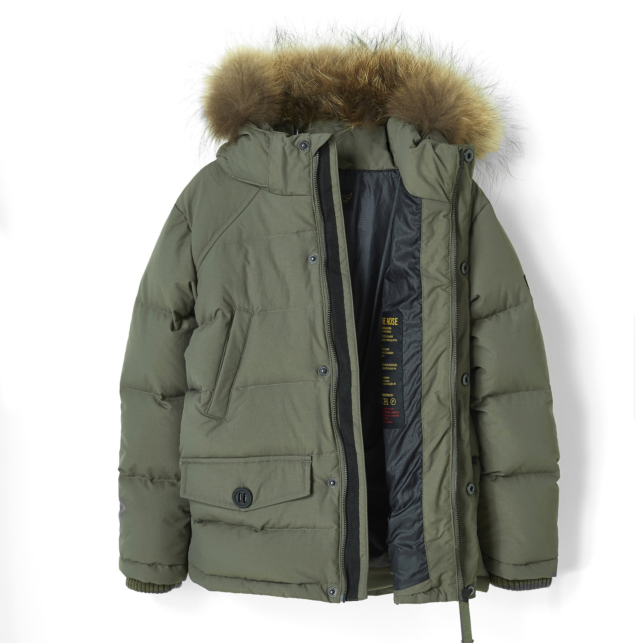 SNOWMOOSE City Khaki - Down Parka with Real Fur Hood