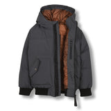 SNOWMOVE Ash Black - Bomber Down Jacket 2